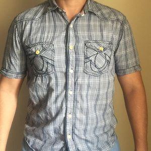 True Religion short sleeve button up size Medium